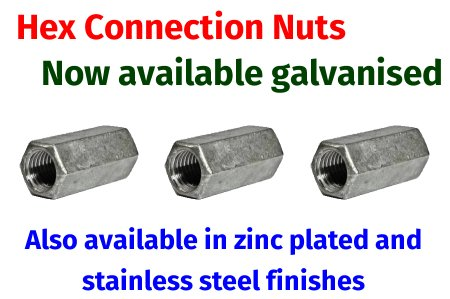 Galvanised Hex Connection Nuts