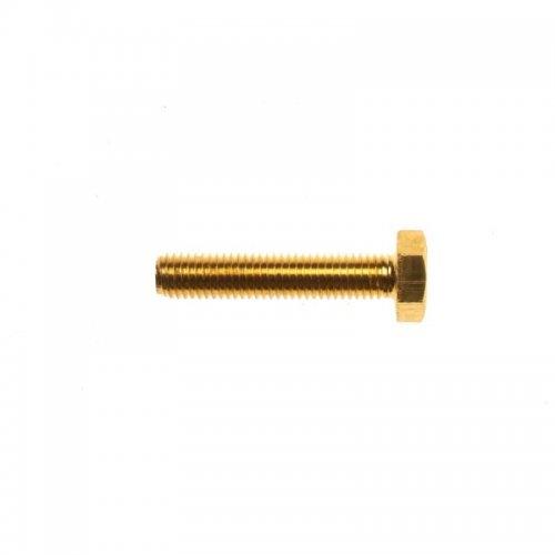 M10x16 Hex Head Set Screws Brass (Pack of 50)