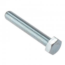 M18x100  Hex  Head  Set  Screw  Zinc  Plated