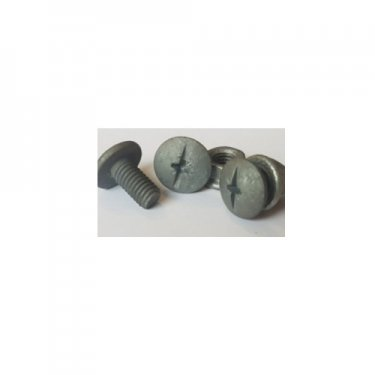 M6x20  Mushroom  Head  Combi-Drive  Tray  Bolts  Galvanised  With  Serrated  Nuts