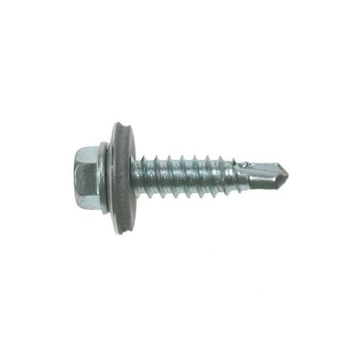 6.3x22 Metalfix Stitching Screws Zinc Plated (Pack of 100) [16mm Washer]