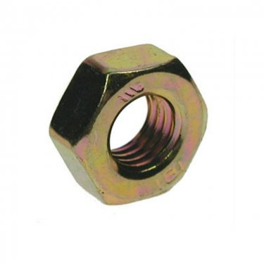 Full  Nuts  Yellow  Zinc  Plated