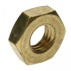 Hexagon Half Nuts Brass