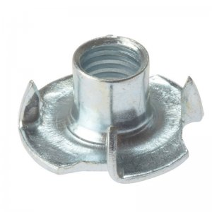 Pronged T Nuts Zinc Plated