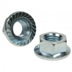 M12  Serrated  Flange  Nuts  Zinc  Plated
