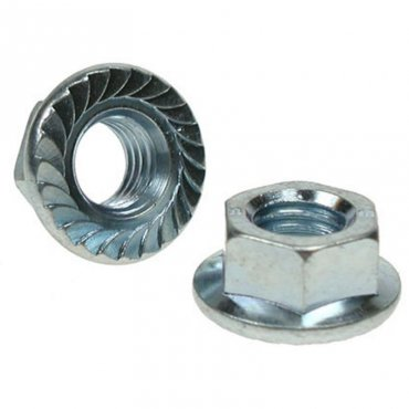 M4  Serrated  Flange  Nuts  Zinc  Plated