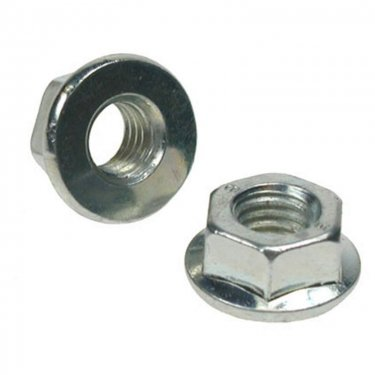 Unserrated  Flange  Nuts  Zinc  Plated