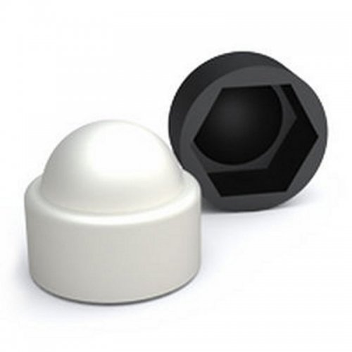 M10 Bolt Cover Caps - White (Pack of 100)*