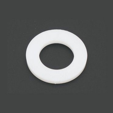 M5  Form  'A'  Flat  Washers  Natural  Nylon