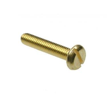 Pan  Slotted  Machine  Screws  Brass