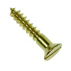 TwinQwik  Csk  Slotted  Woodscrews  Brass  BS1210