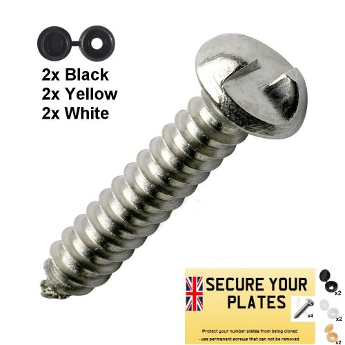 Security Screws Kit for Vehicle Number Plates