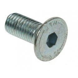 M10x16  Countersunk  Socket  Screws  Zinc  Plated
