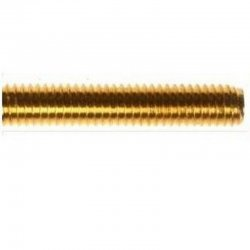 M10 x 1m Threaded Rod Brass DIN 975 (Single Bar)