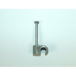 11mm UF Grey Round Cable Clips [Pack of 100]