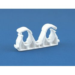 15mm Double Hinged Pipe Clip [Pack of 50]