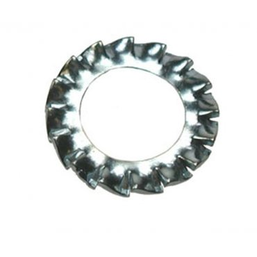 Serrated  Washers  Zinc  Plated  (External)