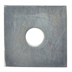 M10  Square  Plate  Washers  Galvanised