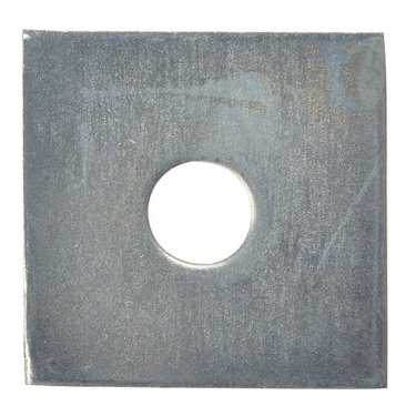 M10  Square  Plate  Washers  Zinc  Plated
