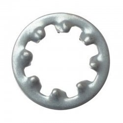 M8  Internal  Shakeproof  Washers  Zinc  Plated