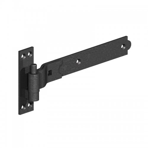 Cranked  Hook  &  Band  Hinges  -  Epoxy  Black