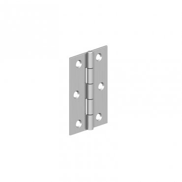 Cranked  Light  Steel  Butt  Hinges  -  Electro  Brass