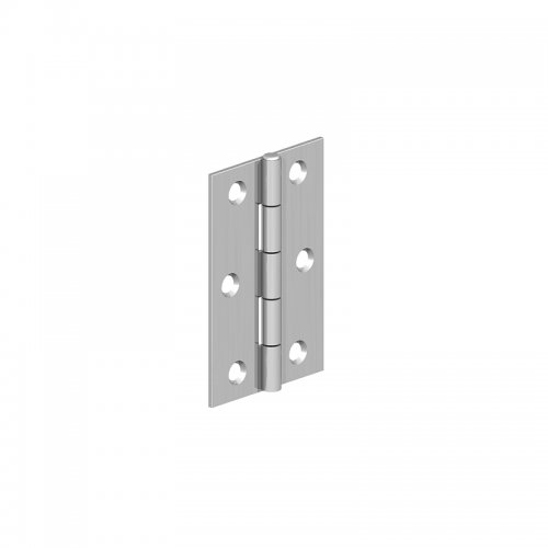 Cranked  Light  Steel  Butt  Hinges  -  Chrome  Plated