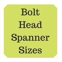 Metric bolt heads & spanner / hex key sizes