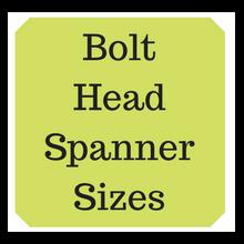 Metric bolt heads & spanner / hex key sizes