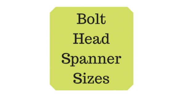 spanner sizes for metric bolts pdf