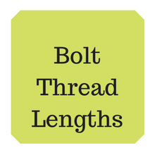 Lengths of thread on hexagon bolts