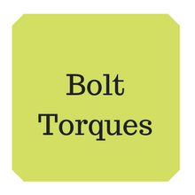Metric recommended bolt torque