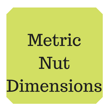 Metric nut dimensions