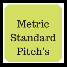 Metric standard thread pitch table
