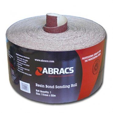 Abracs  115mm  Red  Sandpaper  Roll  -  General  Purpose  Use