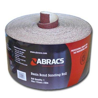 Abracs  115mm  Red  Sandpaper  Roll  -  General  Purpose  Use