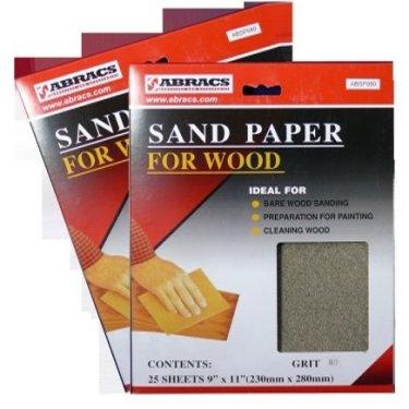230x280mm Sandpaper Sheets 120g (Pack of 25)