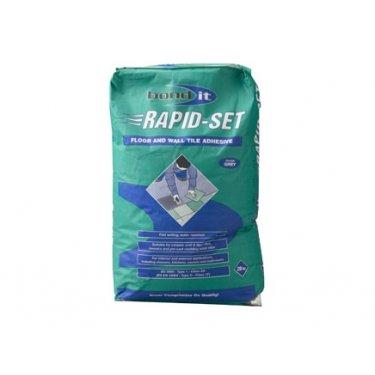 Rapid Set Quick Set Cement Based Tile Adhesive  - Grey 20Kg