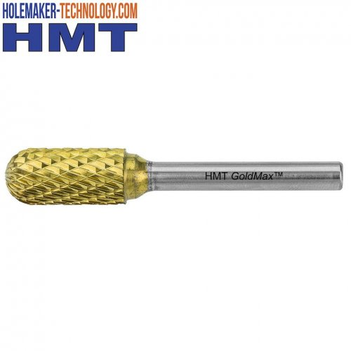 HMT  GoldMax  TCT  Burr  -  Ball  Nosed  Cylinder