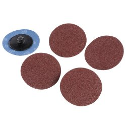50mm  Quick-Change  Sanding  Discs  Set  5Pce
