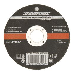 Heavy Duty Metal Slitting Disc Flat 115 x 1 x 22.23mm
