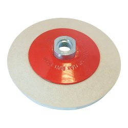 Bevelled Felt Buffing Wheel 115mm
