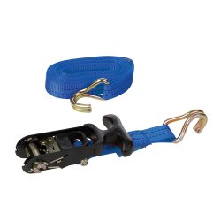 Rubber  Handled  Ratchet  Tie  Down  J-Hook  Straps  [3m  x  38mm]