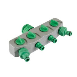 4-Way Tap Connector 3/4in & 1/2in Male