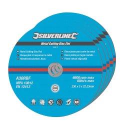 Metal Cutting Discs Flat 230 x 3 x 22.23mm [Pack of 5]