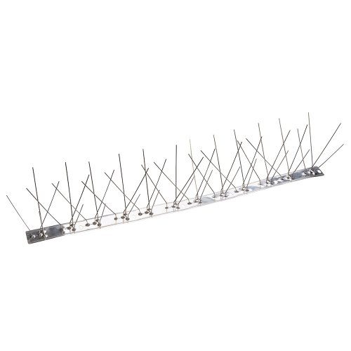 Bird Spikes 500mm (4 Spike Stainless Steel) [Pack of 3]