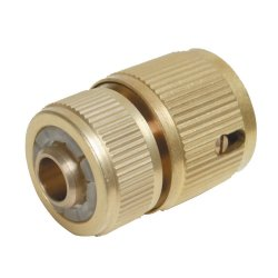 Quick Connector Auto Stop Brass 1/2in Female