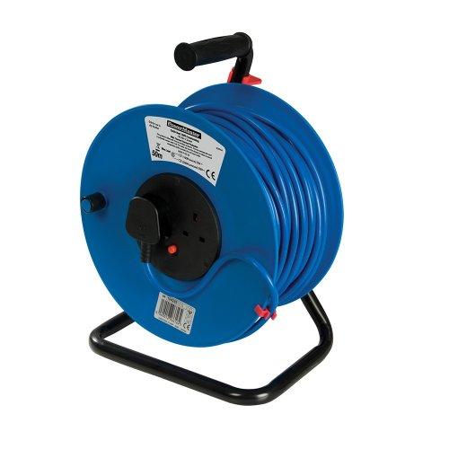 Cable Reel 230V Freestanding 2-Gang 50m