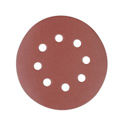 125mm Hook & Loop Discs Punched 240 Grit [Pack of 10]