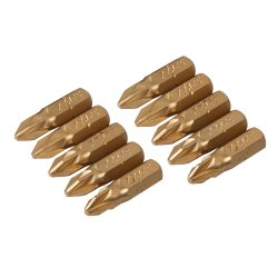 Pozidriv Gold Screwdriver Bits (Pack of 10)